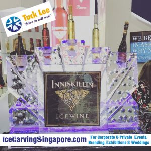 Custom Logo Ice Sculpture | Ice Sculpture Logo | Branding with Ice (Ice Branding) | Corporate Events and Weddings (Ice Sculpture for wedding, product launch, event, celebration or occasion)