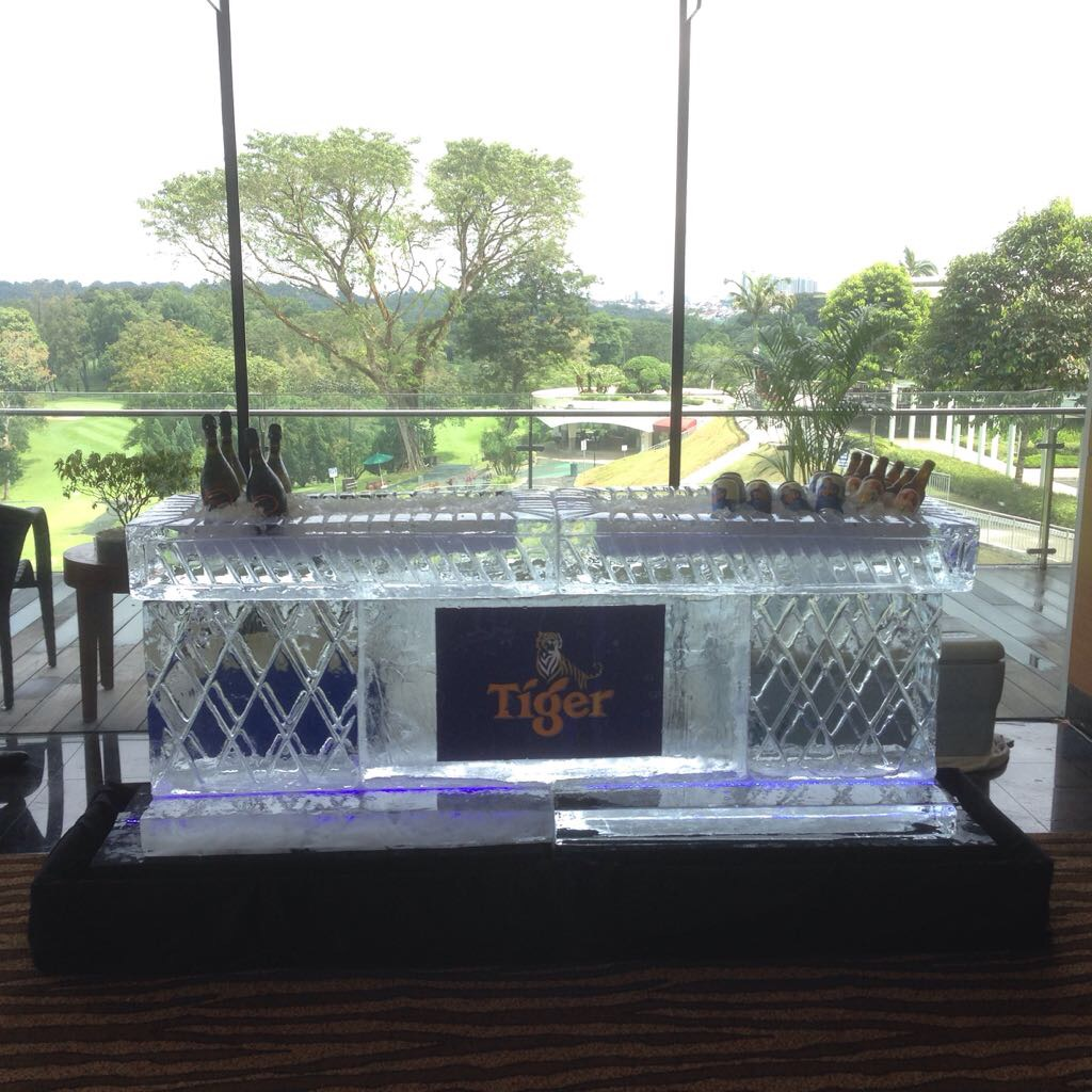 Ice Sculpture Logo Tiger Ice Bottle Bar
