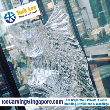 Ice Sculpture Ice Tennis racket | Ice fish sculpture (Natural ice art)