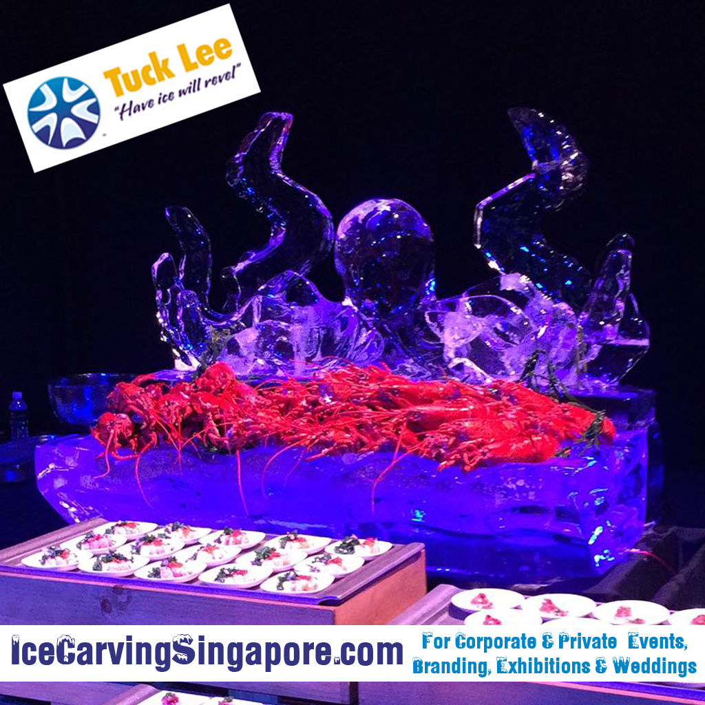 Octopus Ice Sculpture ; Octopus Ice Food Tray