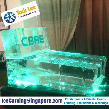 CBRE Sliding Ice Luge Sculpture : Spectacular Ice Sculptures