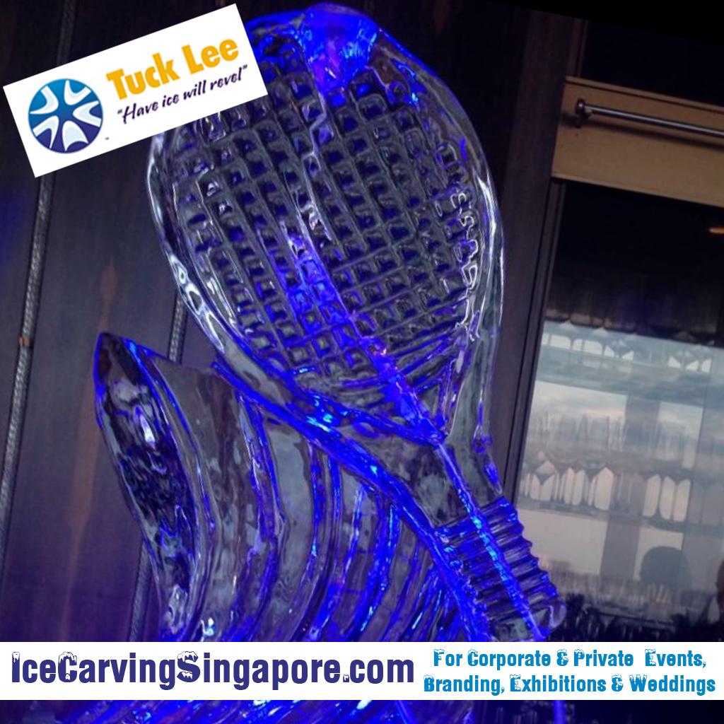 Ice Sculpture Ice Tennis racket