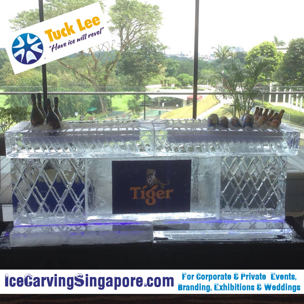 Ice Bar : Tiger Beer Ice Bar Sculpture (Ice Luges, Ice Sculptures & Ice Bars for Weddings)