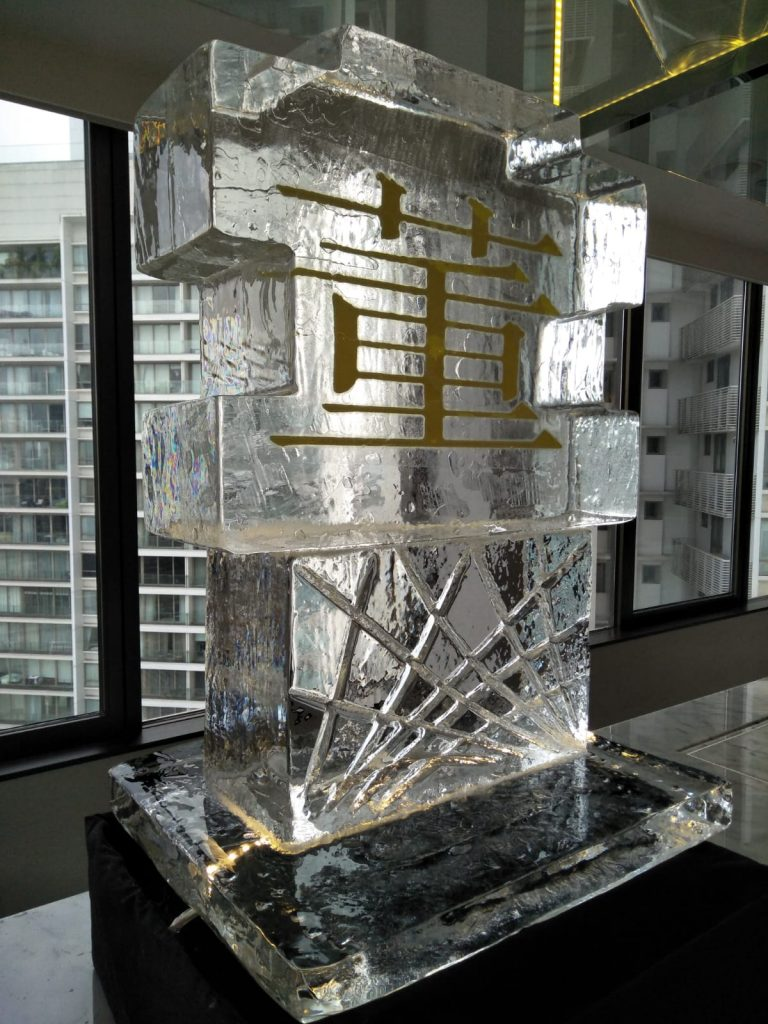 ice sculpture logo for Tang Holding